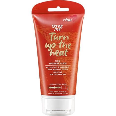 RFSU Sense Me - Turn up the heat Massage Glide Lubricant 150ml. Warming massage lubricant