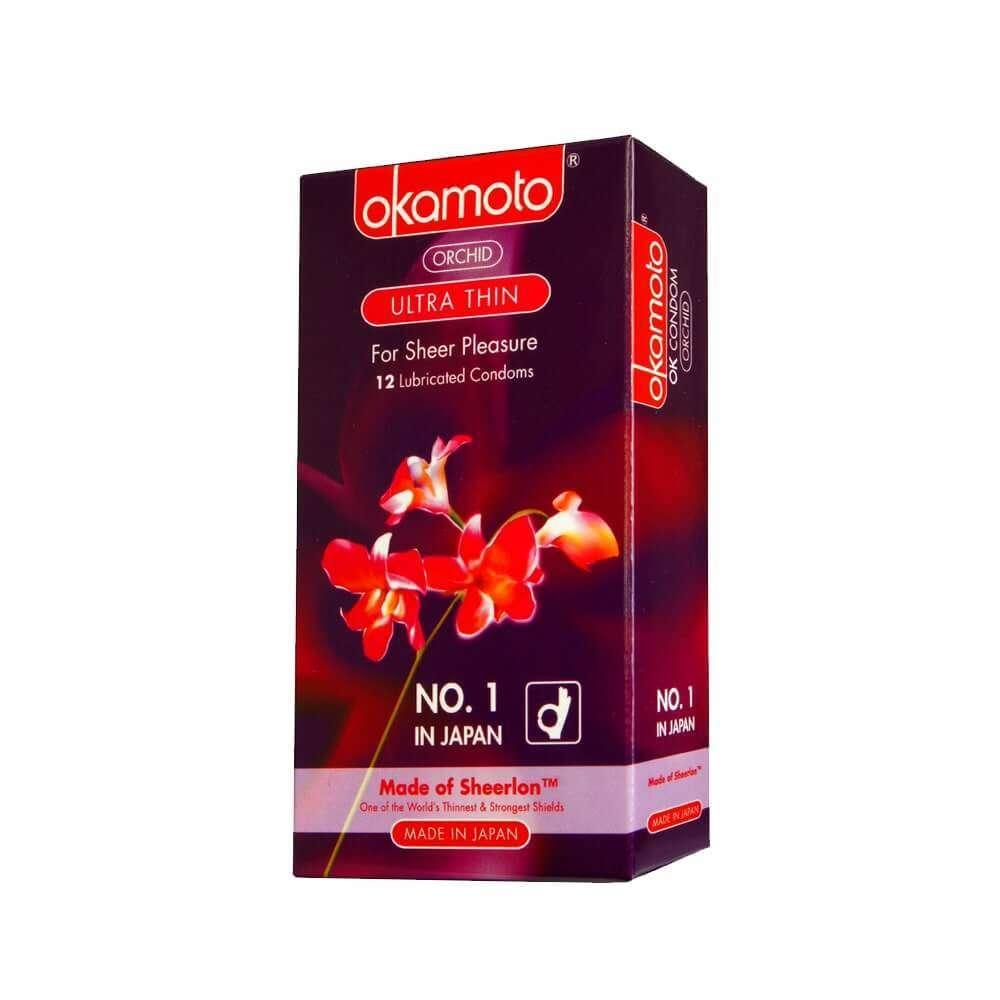Okamoto Orchid Ultra Thin 12, thin condom