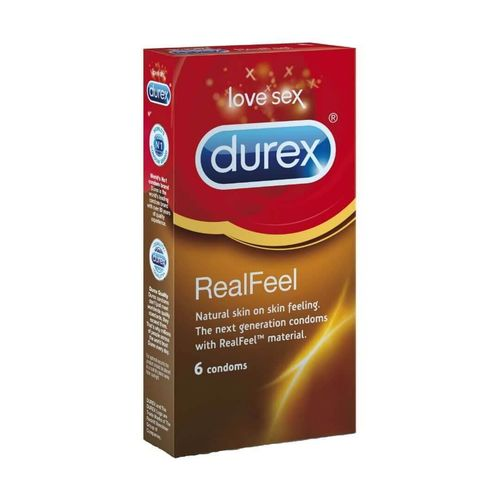 Durex Real Feel 6 kpl, ohut lateksiton kondomi