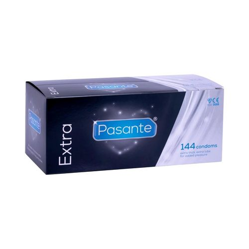 Pasante Extra 144pcs, extra thick condom with extra lubricant