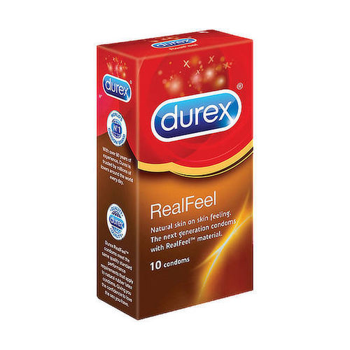 Durex Real Feel 10pcs, thin latex free condom