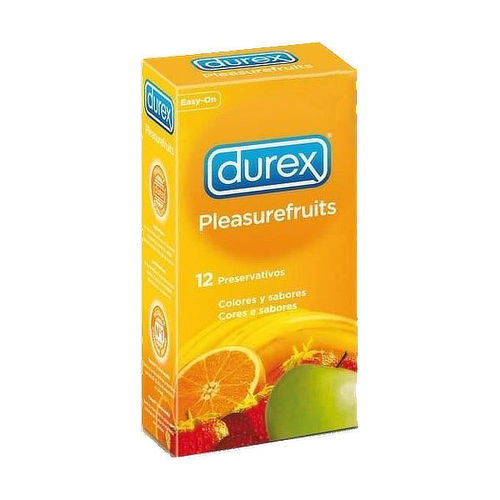 Durex Pleasurefruits 12pcs, selection of fruity and colourful condoms