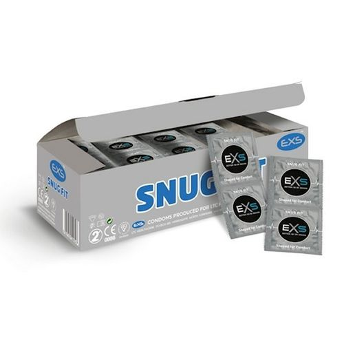EXS Snug Fit 100 pcs, smaller condom